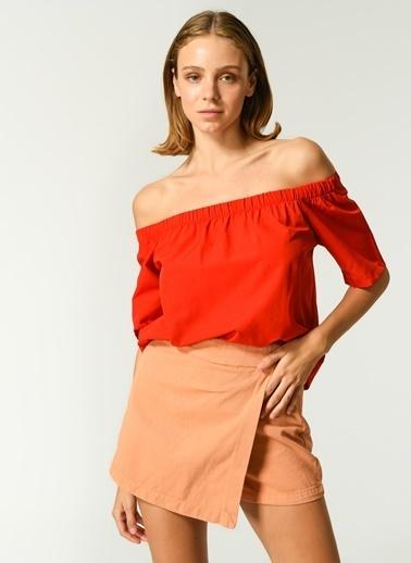 NGSTYLE Kadın Carmen Yaka  Bluz NGKSS21BL0019 Kırmızı